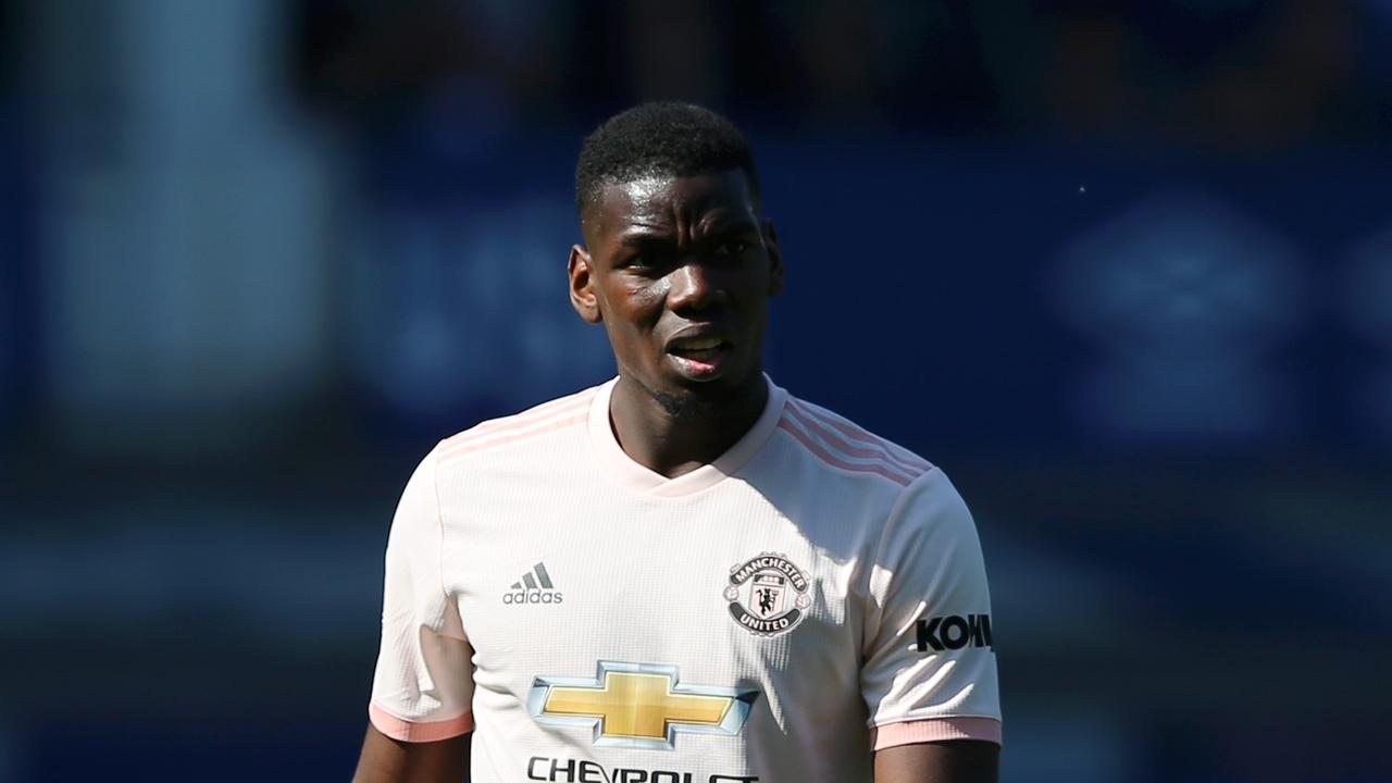 Paul Pogba of Manchester United looks on