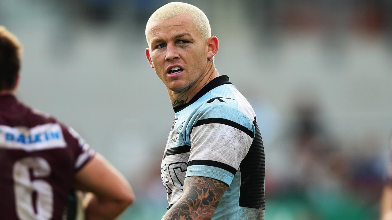 Cronulla's Todd Carney decided peroxide blond was the look for the shire. Pic Brett Costello
