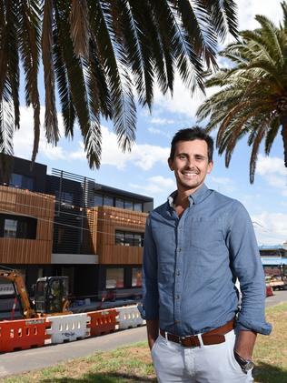 Tim Lowe, owner of Lowe Group at the Pescar Mordialloc apartment development. Picture: Josie Hayden