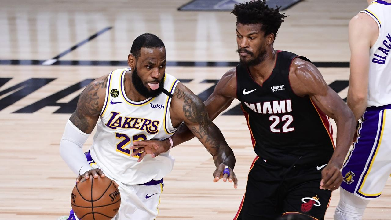 LeBron James and Jimmy Butler will face off again. (Photo by Douglas P. DeFelice/Getty Images)