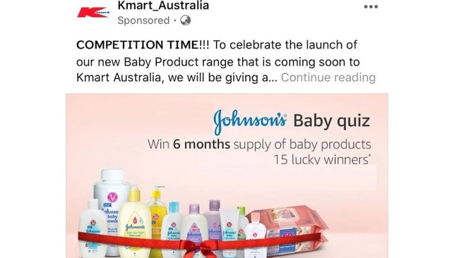The Kmart advert looks legitimate and is fooling hundreds.