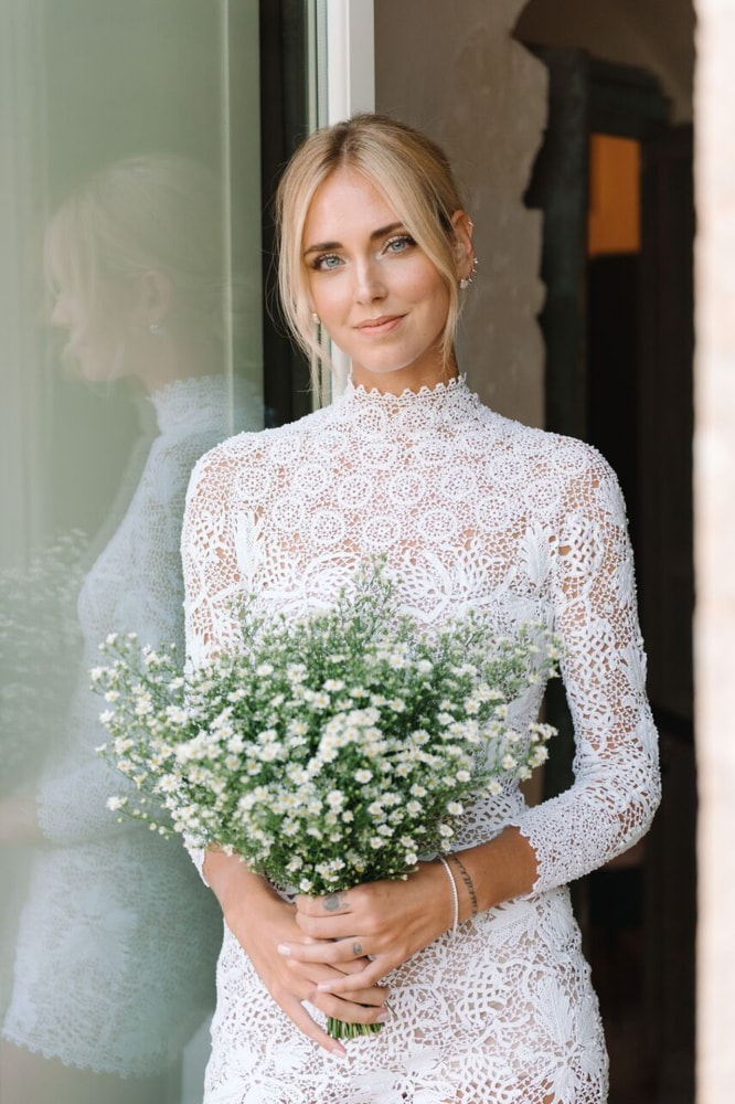 How Chiara Ferragni's bridal make-up came together