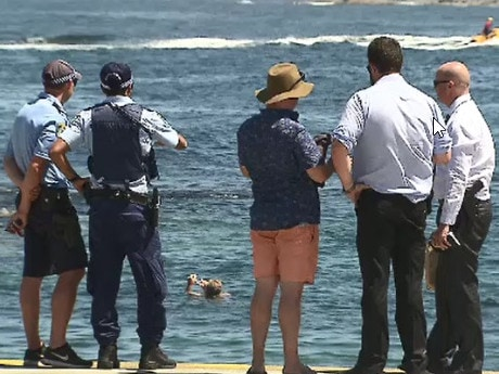 Police investigate a drowning at Clovelly, NSW. Picture: 9 News