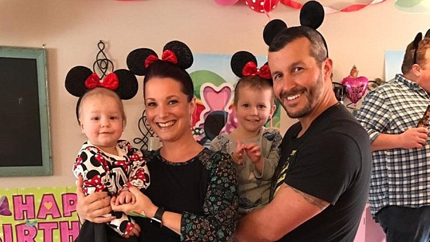 Chris Watts with wife Shanann and their two daughters, who he murdered.