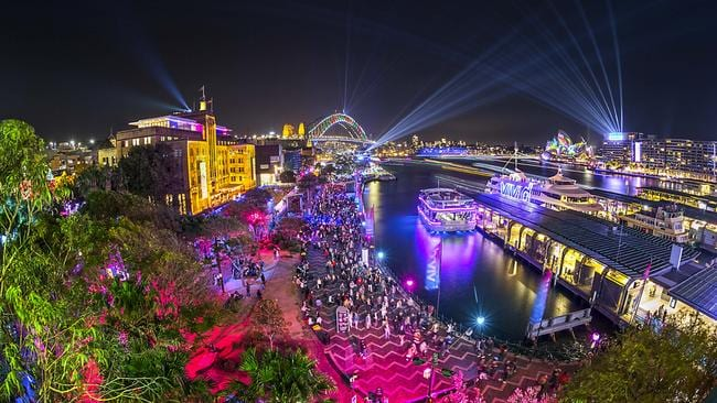 Sydney Harbour during Vivd Sydney 2018. Picture: Hamilton Lund
