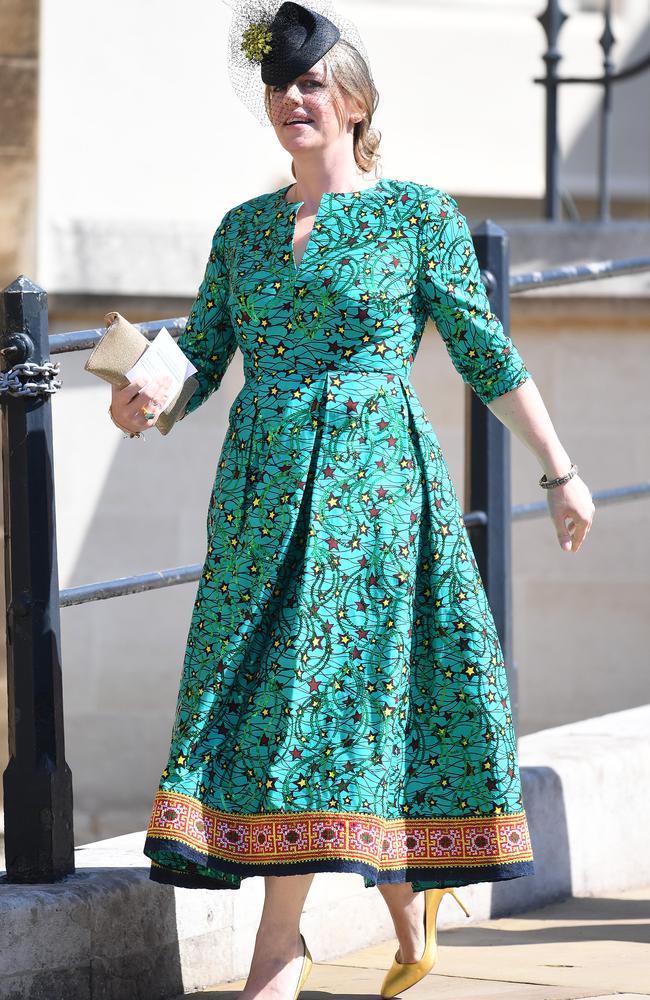 Harry's stepsister arrives at St George's Chapel for his wedding. Credit: James Whatling/MEGA