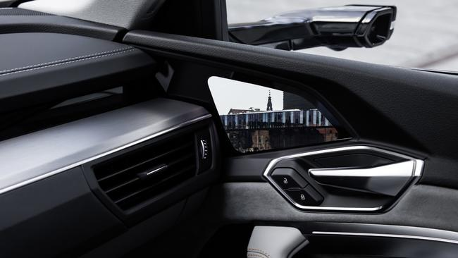 digital trends: The Audi e-tron features digital side mirrors.