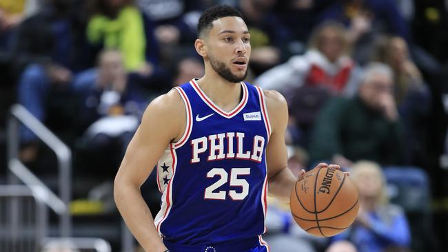 Ben Simmons has done all of his work inside the paint.