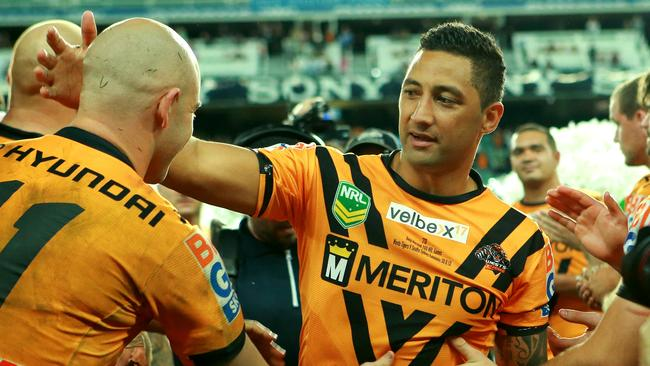 Benji Marshall after his last home game for the Tigers.