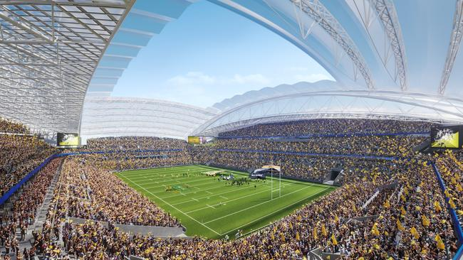 Artist's impression of redevelopment of Stadium Australia, also known as ANZ Stadium. Picture: NSW Planning Department