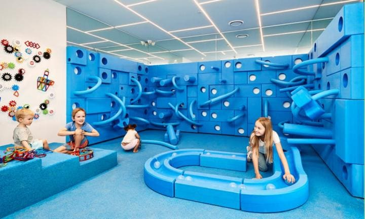 There's a children's play space that won't drive you mad. True story