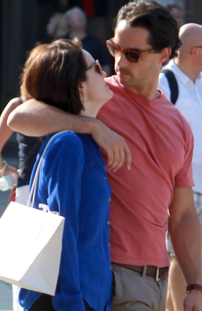 Michelle Dockery and John Dineen spotted in Venice in 2013. Picture: Maurizio La Pira / Splash News.