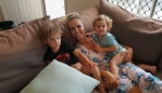 Maddi Wright and her two young boys. Photo: Supplied