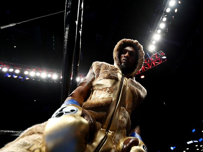 Jermell Charlo at the WBC junior middleweight title bout.