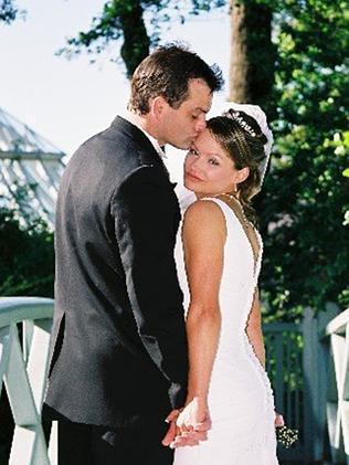Perth businessman Paul Weeks with wife Danica.