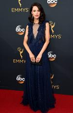 Abigail Spencer arrives at the 68th Primetime Emmy Awards on Sunday, Sept. 18, 2016, at the Microsoft Theater in Los Angeles. (Photo by Jordan Strauss/Invision/AP)