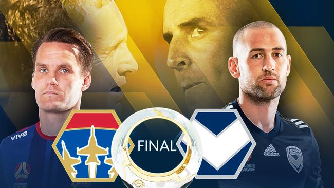 Newcastle Jets do battle with Melbourne Victory in the A-League grand final
