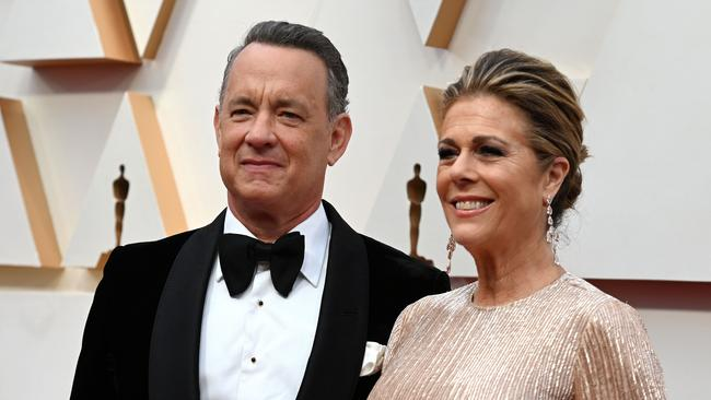 Tom Hanks and Rita Wilson at the Oscars in Hollywood on February 9. Picture: AFP/Robyn Beck