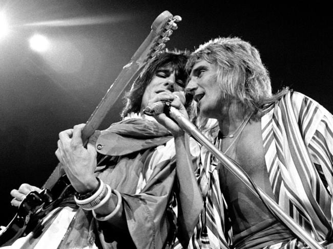 Ronnie Wood and Rod Stewart back in their Faces heyday. Picture: Robert Knight Archive/Redferns.