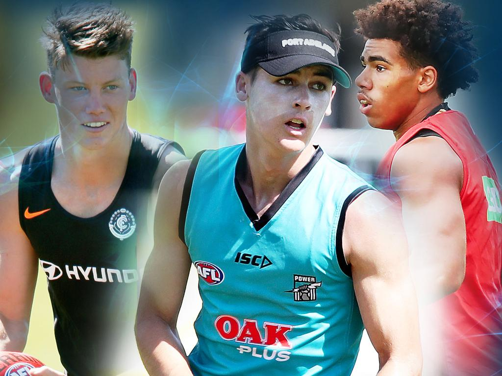 Round 1 chances: Nick Blakey, Sam Walsh, Connor Rozee and Isaac Quaynor.