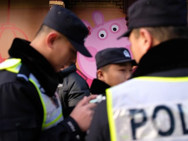 Wanted for subverting the Communist State … Peppa Pig was banned in China after being adopted as a symbol of youth culture. Picture: APF