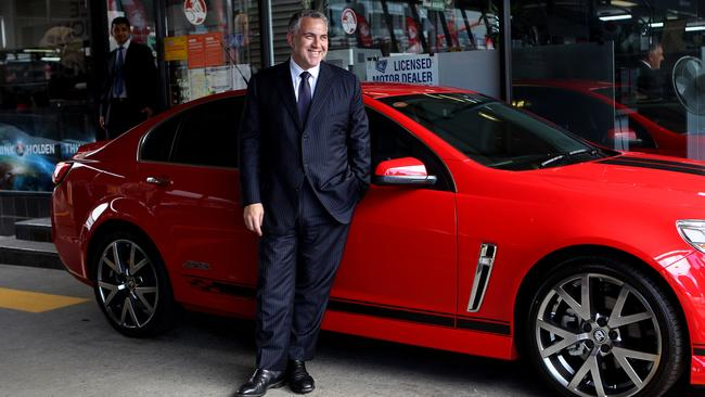 Former treasurer Joe Hockey, pictured at Suttons Holden, threatened the brand in parliament in 2013.