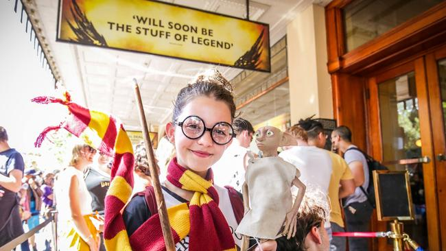 Lily-Rose Petitio, 11, from Point Cook, celebrates Harry Potter and The Cursed Child. Picture: Nicole Cleary