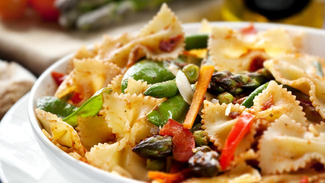 Reheated pasta acts like fibre in the body.