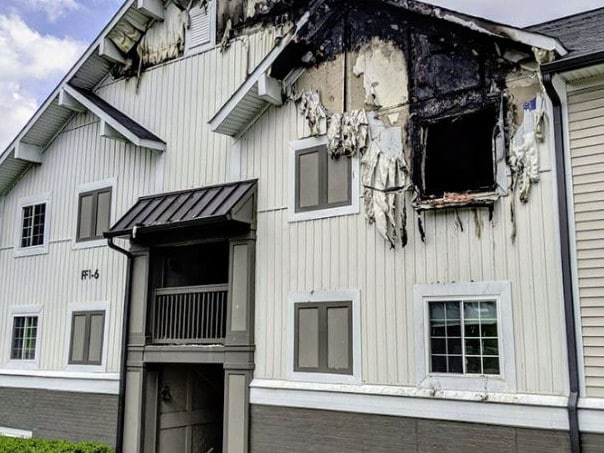 The fire broke out in an apartment complex 20 minutes outside of Nashville.