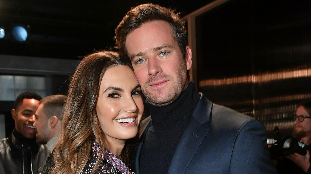 Armie Hammer and Elizabeth Chambers. Picture: Mike Coppola/Getty Images