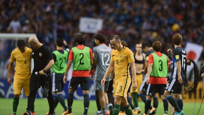 Brad Smith of Australia looks dejected