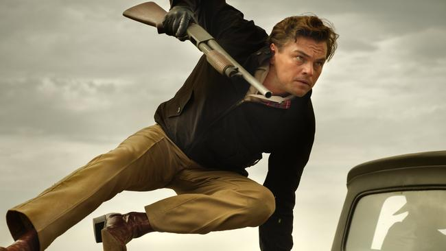 Leonardo DiCaprio from a scene in Quentin Tarantino's Once Upon a Time … in Hollywood. Picture: Sony-Columbia Pictures via AP)