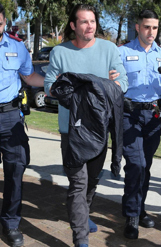 Cousins arrives at the Armadale courthouse. Picture: Justin Benson-Cooper / The West Australian