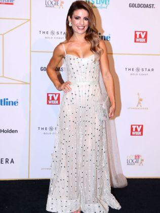 Ada Nicodemou arrives at the 60th Annual Logie Awards. Image: Getty Images. Credit: Chris Hyde