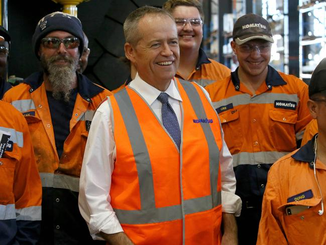 Meeting workers and voters, Bill Shorten is pretty normal. Picture: Colin Murty/The Australian