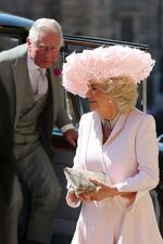 Camilla Parker Bowles at St George's Chapel at Windsor Castle.  <p>Image credit: AFP</p>