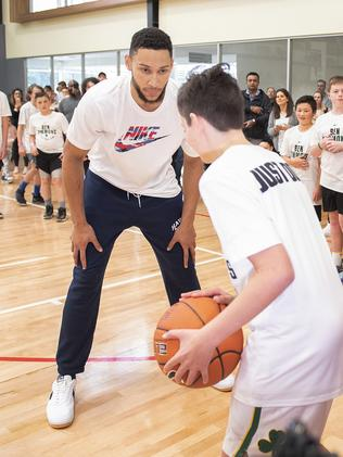 Ben Simmons at one of his camps. (AAP Image/Ellen Smith)
