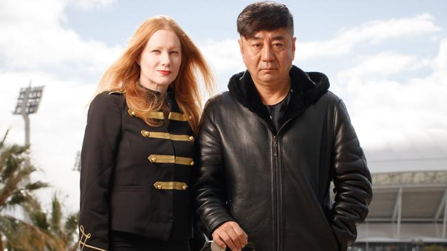 BUILDING BRIDGES: Alicia MacCulloch and director Zhang Jiandong in Adelaide. Picture MATT TURNER.