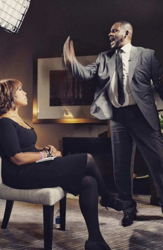 "R Kelly's explosive interview with Gayle King, where he yelled: ""I'm fighting for my f***ing life"". Picture: Supplied"