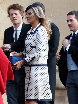 Kate Moss looked uncharacteristically demure. Photo: Adrian Dennis/Pool/AFP