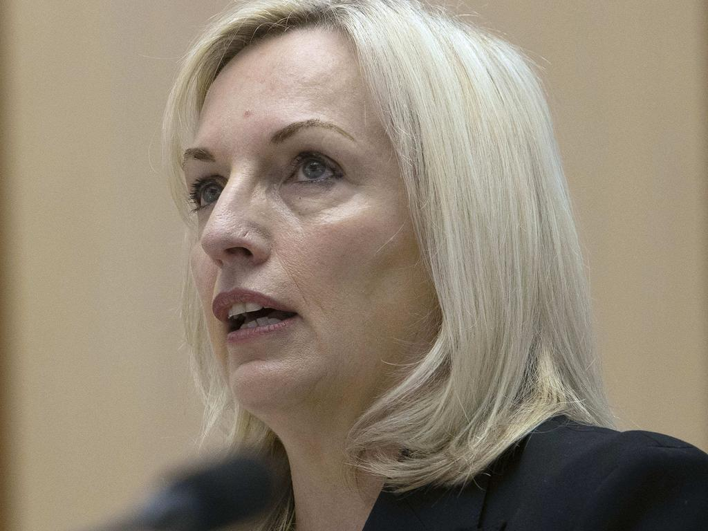 Australia Post chief executive Christine Holgate defended the purchase of four Cartier watches at a Senate estimates hearing on Thursday. Picture: NCA NewsWire / Gary Ramage