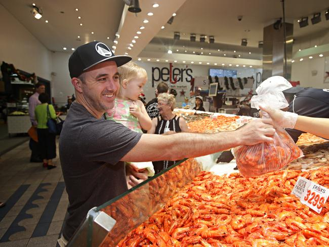Aussies will gorge on seafood this Christmas. Picture: Adam Yip