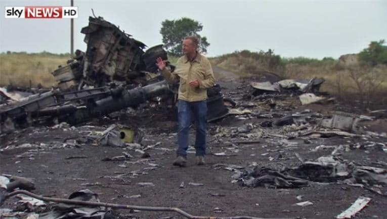 Sky 'Rained People' After MH17 Shot Down