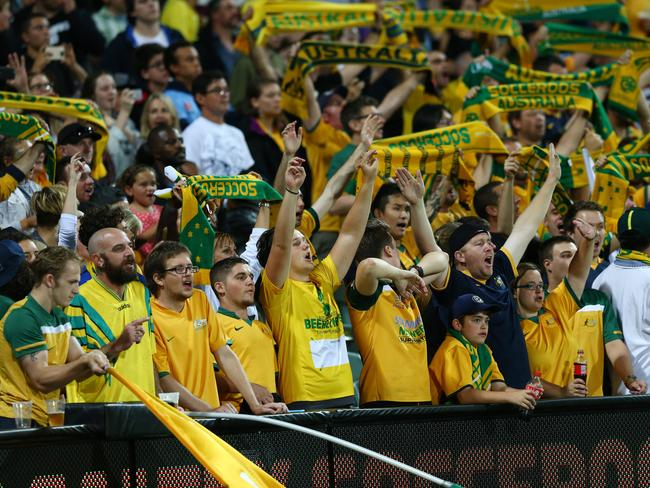 Adelaide's Socceroo fans will be in full voice once again. Picture: Sarah Reed.