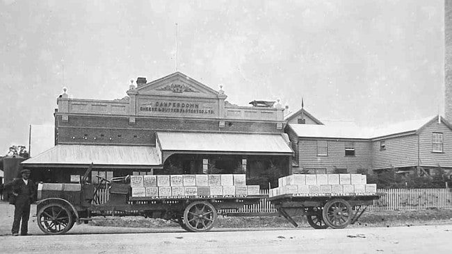A historic image of the former Camperdown Cheese and Butter Factory, which is set to make way for the facility.