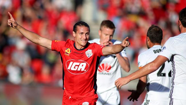 Adelaide United go into their clash with Wellington Phoenix as heavy favourites. Picture: Kelly Barnes/Getty Images