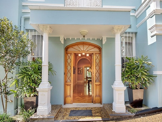 The front door at 30A Billyard Ave, Elizabeth Bay