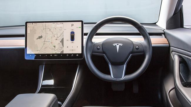 The simplicity of Tesla's interior takes some getting used to.