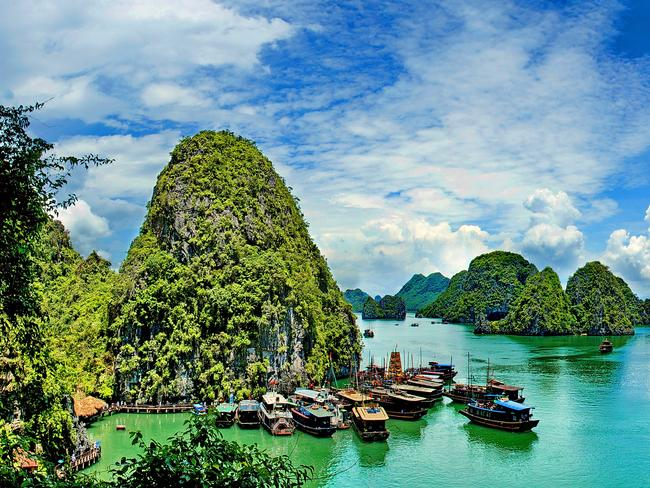 Halong Bay is one of Vietnam's most popular tourist sites.