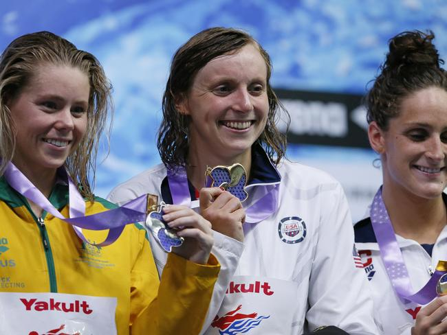 There was a silver lining for Kiah Melverton (left) in the 1500m. Picture: AP